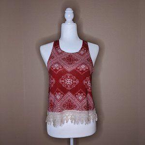 Rue21 Crochet-fringe Tank Top